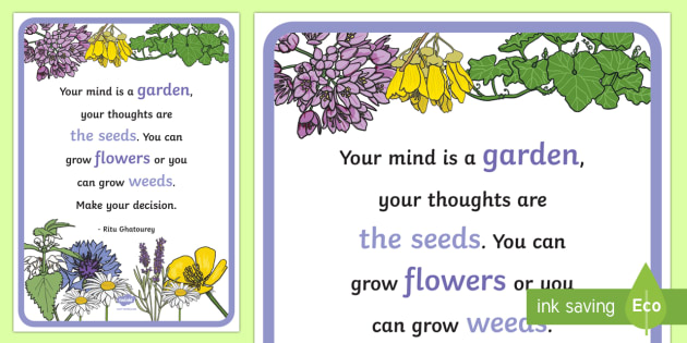 Floral Inspirational Quote by Ghatourey Display Poster - Classroom, Display, Floral, flower, plants, petal, vines, quote, saying, inspiration, motivation,