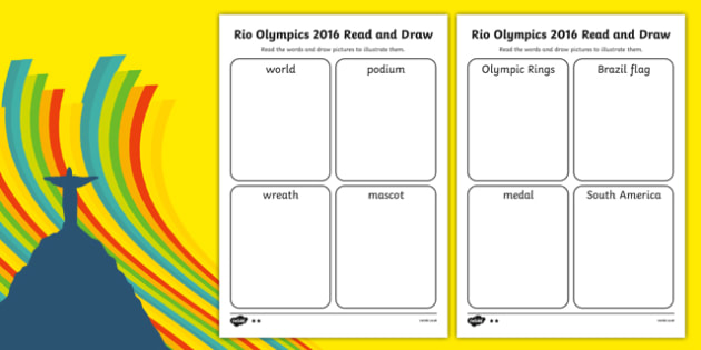 Rio Olympics 2016  Read and Draw SEN Differentiated Activity Sheet Pack, worksheet