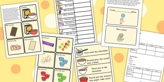 Making Choices And Request Activity Making Chocolate Crispie Cake