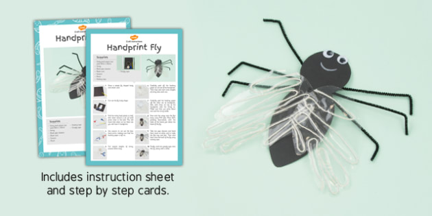 Handprint Fly Craft Instructions - craft, instructions, handprint