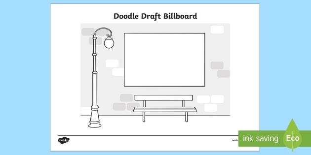 Doodle Draft Billboard Activity Sheet