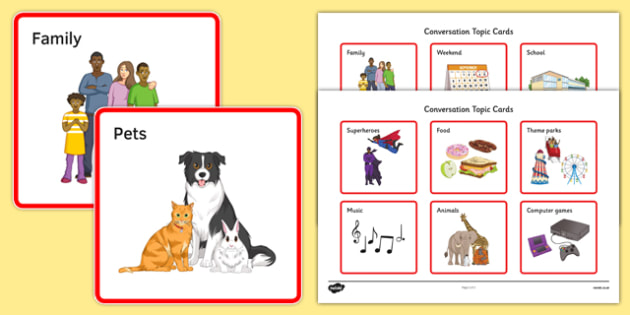 KS3 Conversation Topic Cards - SEN, support, behaviour, relationships, secondary, activity, PSHE, talking, sharing, listening, speaking