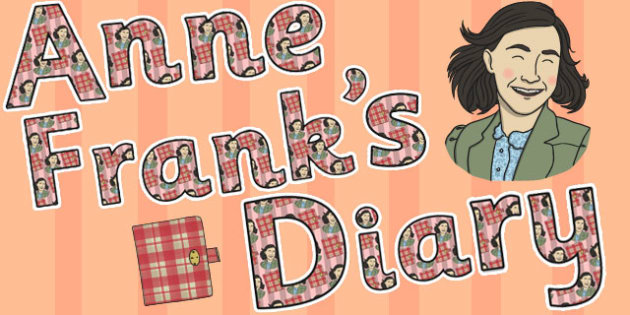 Anne Franks Diary Display Lettering - anne frank, diary, display