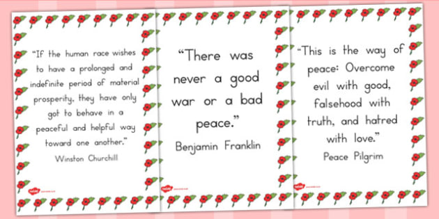 Peace Quotes Display Posters - australia, peace, display, posters