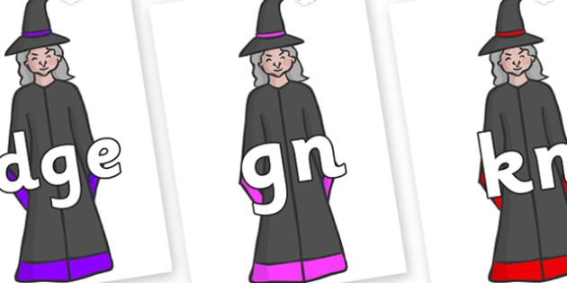 Silent Letters on Witches - Silent Letters, silent letter, letter blend, consonant, consonants, digraph, trigraph, A-Z letters, literacy, alphabet, letters, alternative sounds