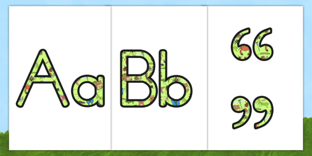 Minibeasts Display Lettering - insects, animals, letters, display