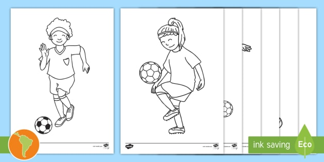NEW * Hojas de colorear: Jugadores de fútbol - mundial de