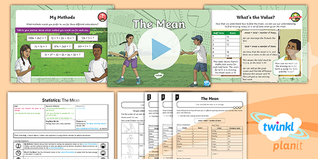 PlanIt Statistics Lesson: Year 6 Find the Mean