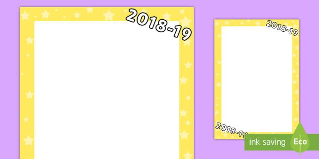 2018 2019 page borders page border border frame writing frame
