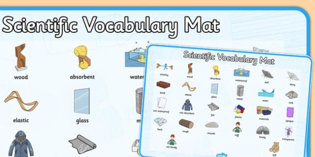 Everyday Materials Word Mat - everyday, materials, word mat