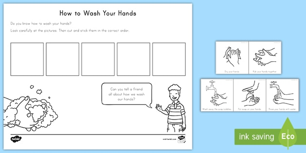 NEW * Washing Your Hands Sequencing Activity