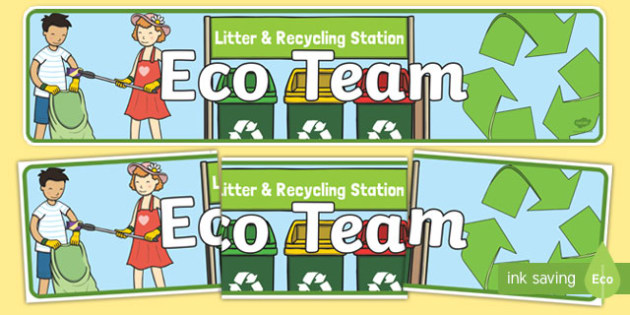 Eco Team Display Banner - banners, displays, poster, visual