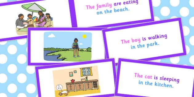 Picture Description Cards Who What Doing Where - description