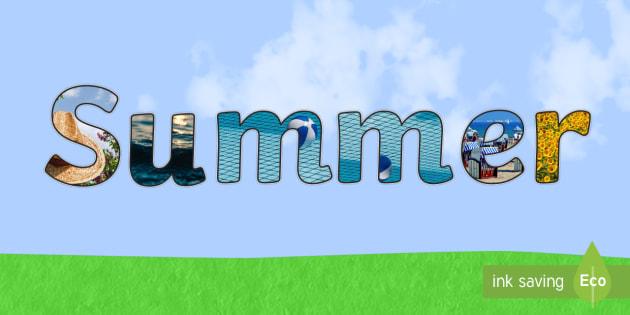 Summer Photo Display Lettering - summer, display, lettering