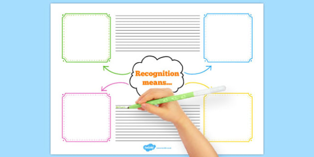 Recognition Means Mind Map Worksheet - australia, recognition