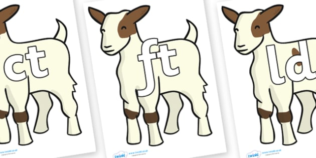Final Letter Blends on Baby Goats - Final Letters, final letter, letter blend, letter blends, consonant, consonants, digraph, trigraph, literacy, alphabet, letters, foundation stage literacy