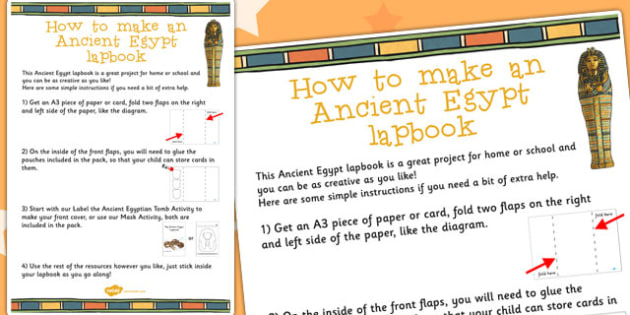 Ancient Egypt Lapbook Instructions Sheet - lapbooks, instructions