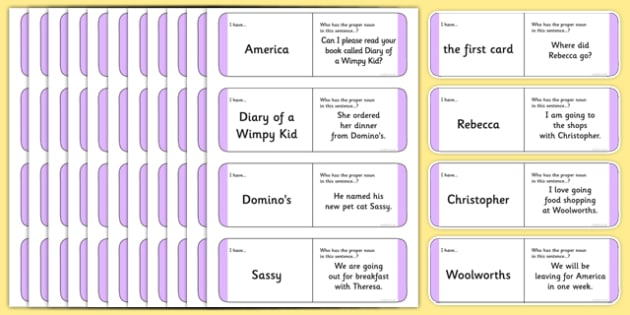 Australian Year 2 Proper Noun Loop Cards - australia, Phonics, grammar, language, literacy, proper nouns, loop cards, talking, listening, ACELA1468