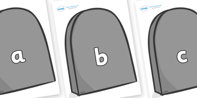 Phase 2 Phonemes on Grave Stones - Phonemes, phoneme, Phase 2, Phase two, Foundation, Literacy, Letters and Sounds, DfES, display