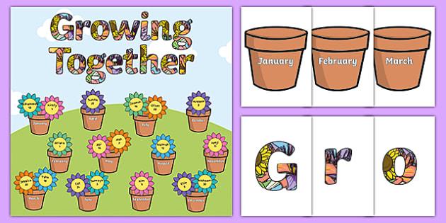 Growing Together Birthday Display Pack - birthdays, display, pack