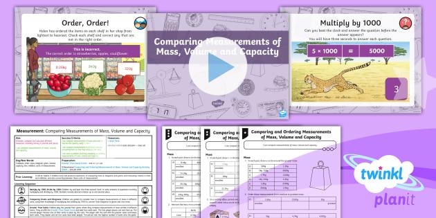 PlanIt Maths Y4 Measurement Lesson Pack Estimate, Compare