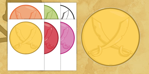 picture regarding Gold Coin Template Printable titled Free of charge! - Blank Pirate Coin - blank, pirate, coin, function-engage in