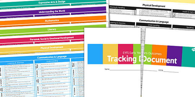 EYFS Development Record Tracking Document September 2014 - Early, Years, Outcomes, EYFS, Record, Tracking, Development