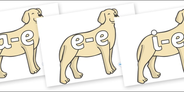 Modifying E Letters on Dogs - Modifying E, letters, modify, Phase 5, Phase five, alternative spellings for phonemes, DfES letters and Sounds