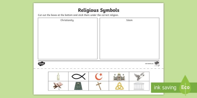 New Christianity And Islam Religious Symbols Sorting