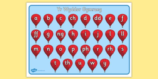Mat yr Wyddor Gymraeg - alphabet mat, Welsh letters, Welsh alphabet, alphabet, writing aid,cymru