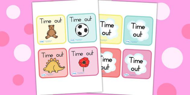 Time Out Cards - time out, behaviour management, cards, behaviour