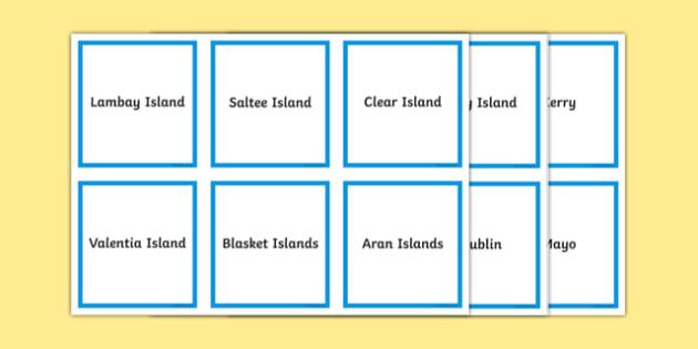 Islands of Ireland Matching Cards-Irish