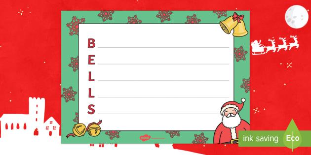Christmas Bells Acrostic Poem