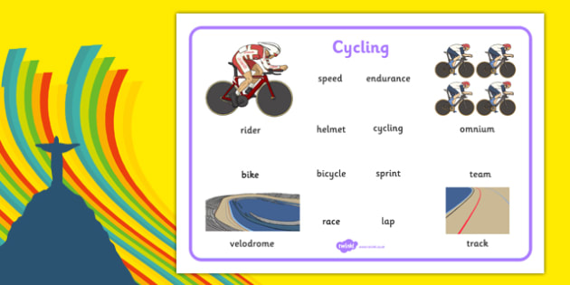 The Olympics Cycling Word Mat - the olympics, 2016 olympics, rio olympics, rio 2016, cycling, word mat