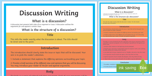 how to write a discussion for a scientific paper