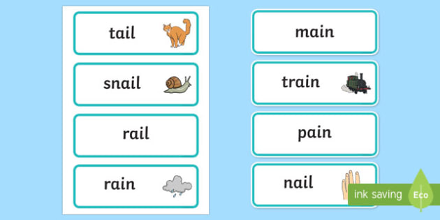 ai' Sound Phonics Word Cards - Phonics Resource - Twinkl