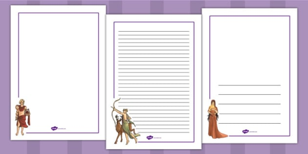 Ancient Greek Gods Page Borders - writing aid, ancient greece
