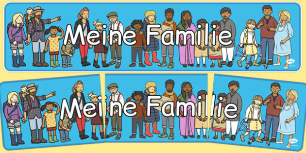 Meine Familie Display Banner German - german, my family, display banner, display, banner, family