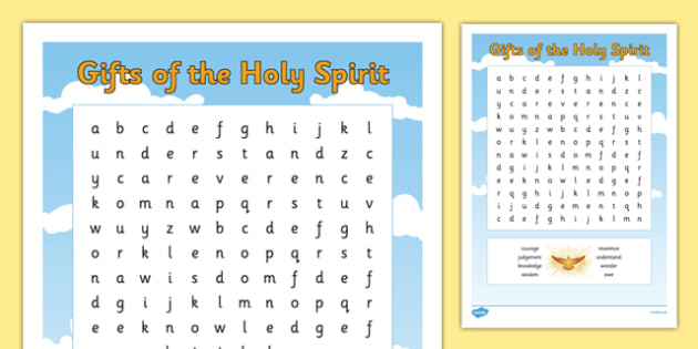 The Gifts of the Holy Spirit Word Search