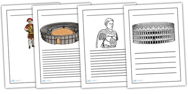 The Romans Writing Frames - romans, writing frames, literacy