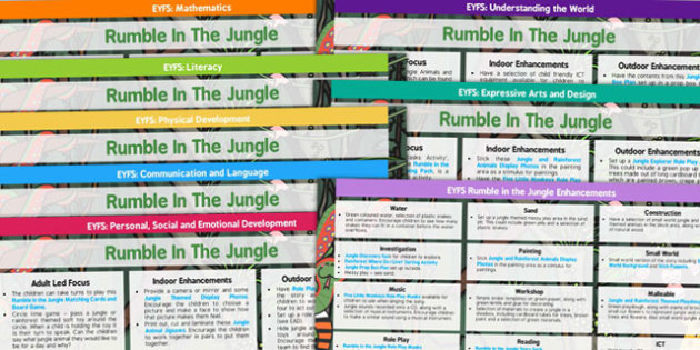 EYFS Lesson Plan and Enhancement Ideas to Support Teaching on Rumble in the Jungle - planning