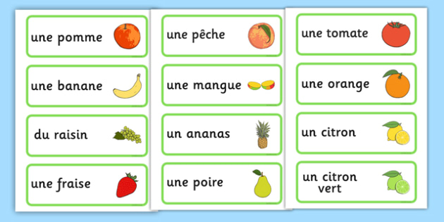 photograph relating to Printable French Flashcards identify No cost! - Fruit Term Playing cards French - french, fruit, phrase playing cards