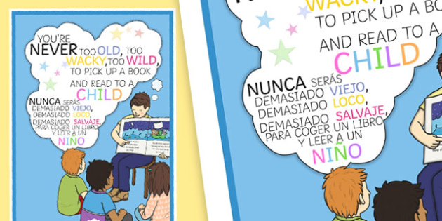 You're Never Too Old Motivational Poster Spanish -translation