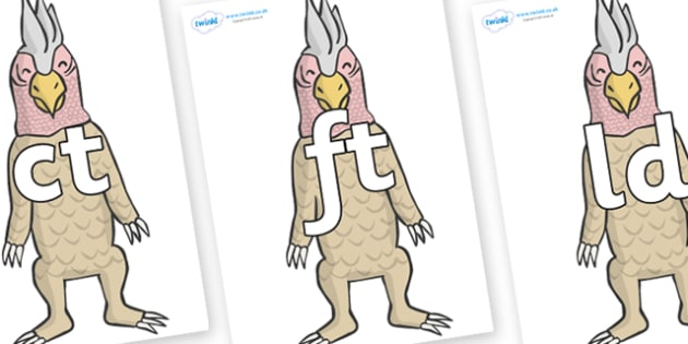 Final Letter Blends on Wild Thing (4) to Support Teaching on Where the Wild Things Are - Final Letters, final letter, letter blend, letter blends, consonant, consonants, digraph, trigraph, literacy, alphabet, letters, foundation stage literacy