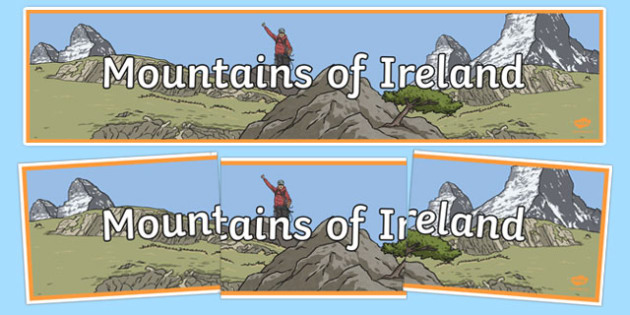 Mountains of Ireland Display Banner-Irish