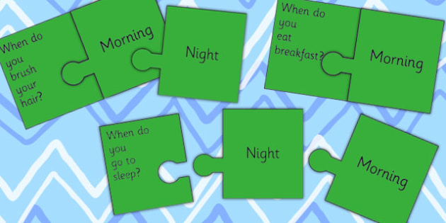 Morning And Night Jigsaw Activity - light, dark, SEN, SEN games