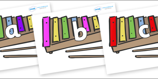 Phoneme Set on Glockenspiels - Phoneme set, phonemes, phoneme, Letters and Sounds, DfES, display, Phase 1, Phase 2, Phase 3, Phase 5, Foundation, Literacy