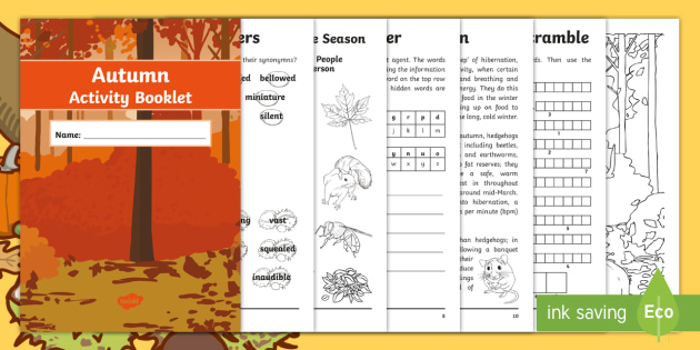 Year 6 Autumn English Activity Booklet - holiday booklet, homework ...
