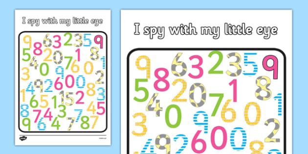I Spy Number Activity - I spy, number activity, number, activity