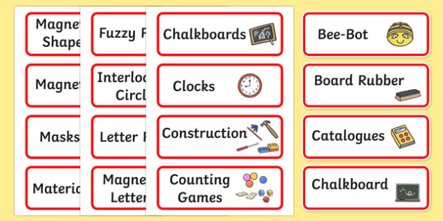 Additional Classroom Resource Labels (Red) - Label template, Resource Label, Name Labels, Editable Labels, Drawer Labels, KS1 Labels, Foundation Labels, Foundation Stage Labels, Teaching Labels, Resource Labels, Tray Labels, Printable labels